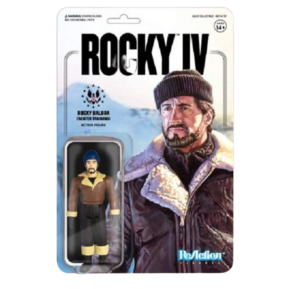Rocky IV Rocky Balboa Winter Training Figure Reaction 4th Movie Articulated
