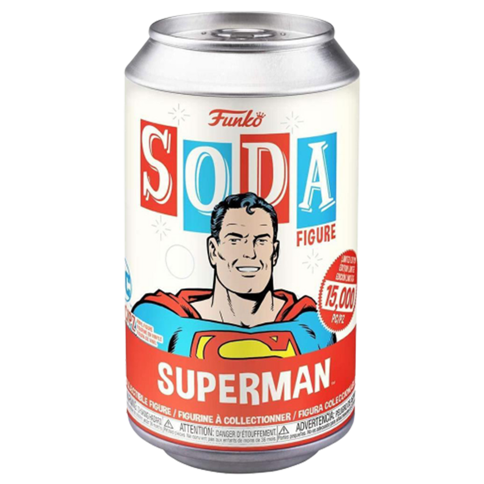 Funko Vinyl Soda DC Comics Superman Classic Collectible Mystery Chase