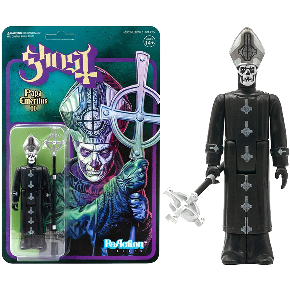 Ghost Papa Emeritus II Reaction Figure Grucifix Collectible Articulated