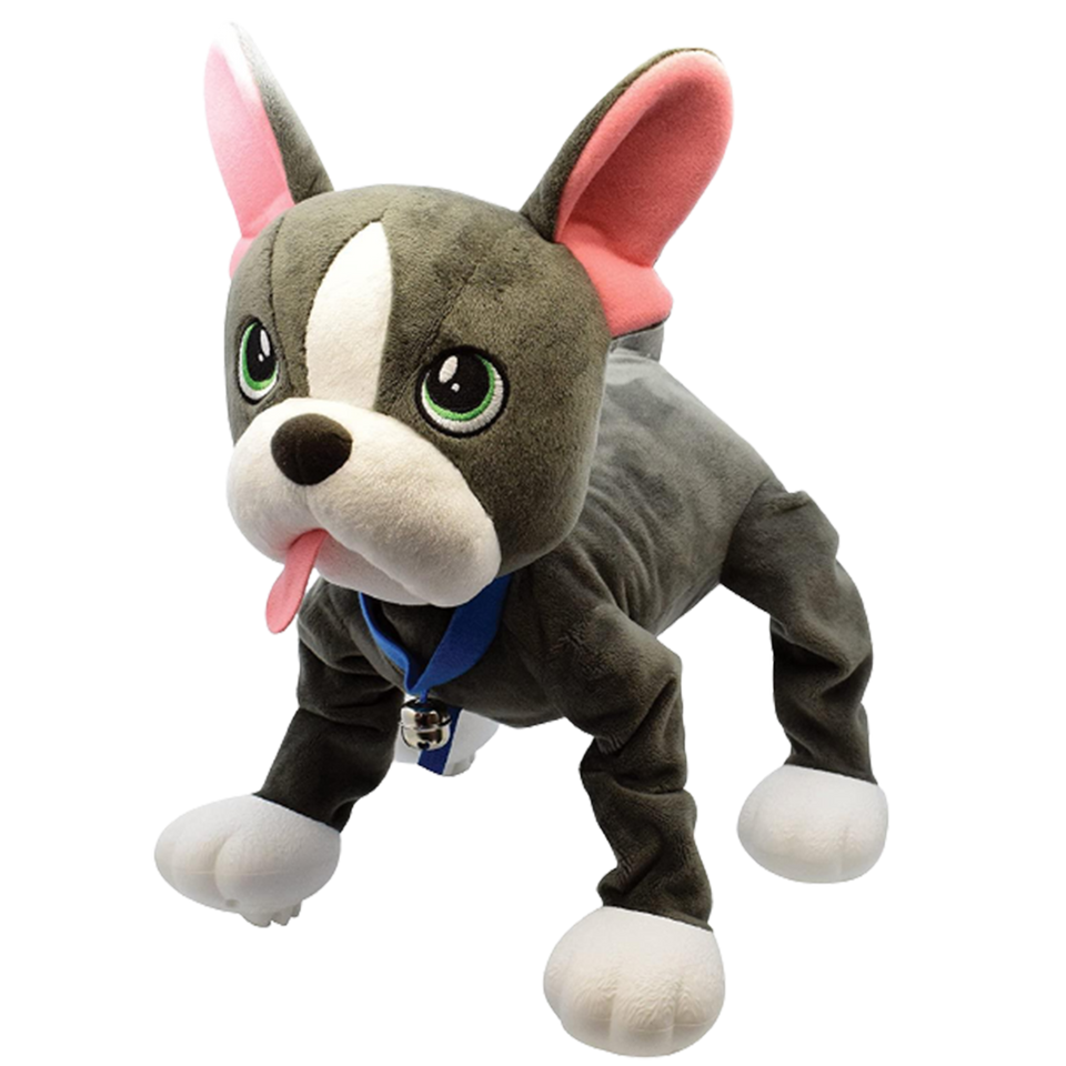 Peppy Pets French Bulldog Walks Runs Plush Interactive Kids Toy