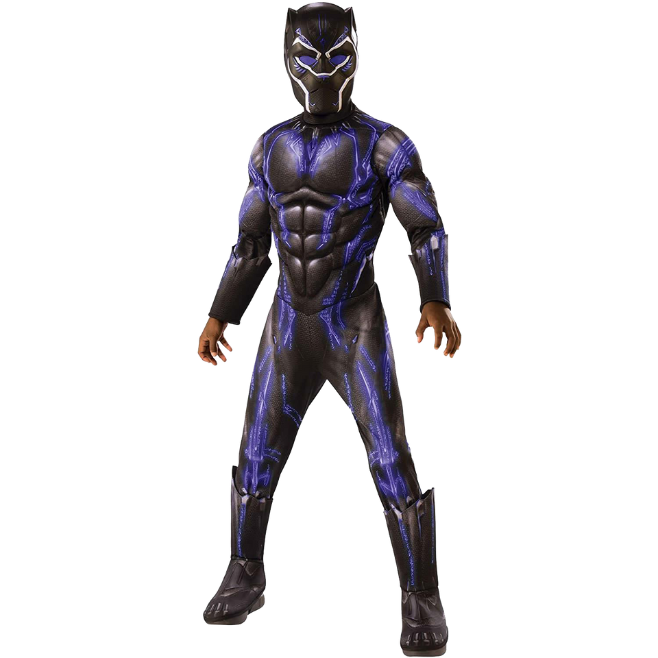 Marvel Superhero Black Panther Deluxe Boys Licensed Costume - Medium (8-10)