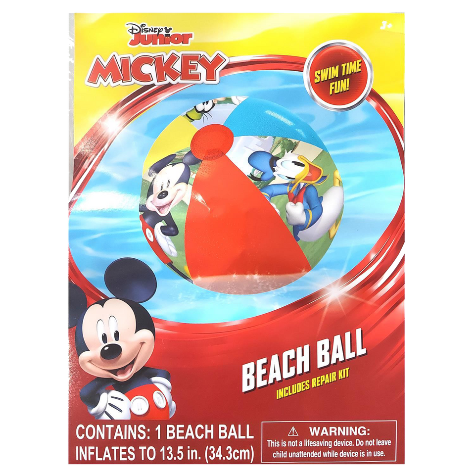 Disney Mickey Mouse Inflatable Beach Ball Donald Goofy Pool Water Fun Toy