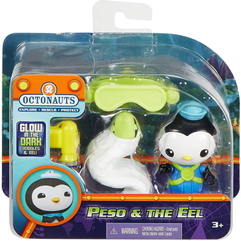Octonauts Peso & Eel Figures Glow-in-the-Dark Set