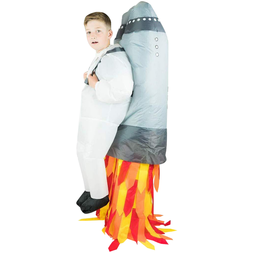 Inflatable Jetpack Rocket Astronaut Space Kids Costume - O/S