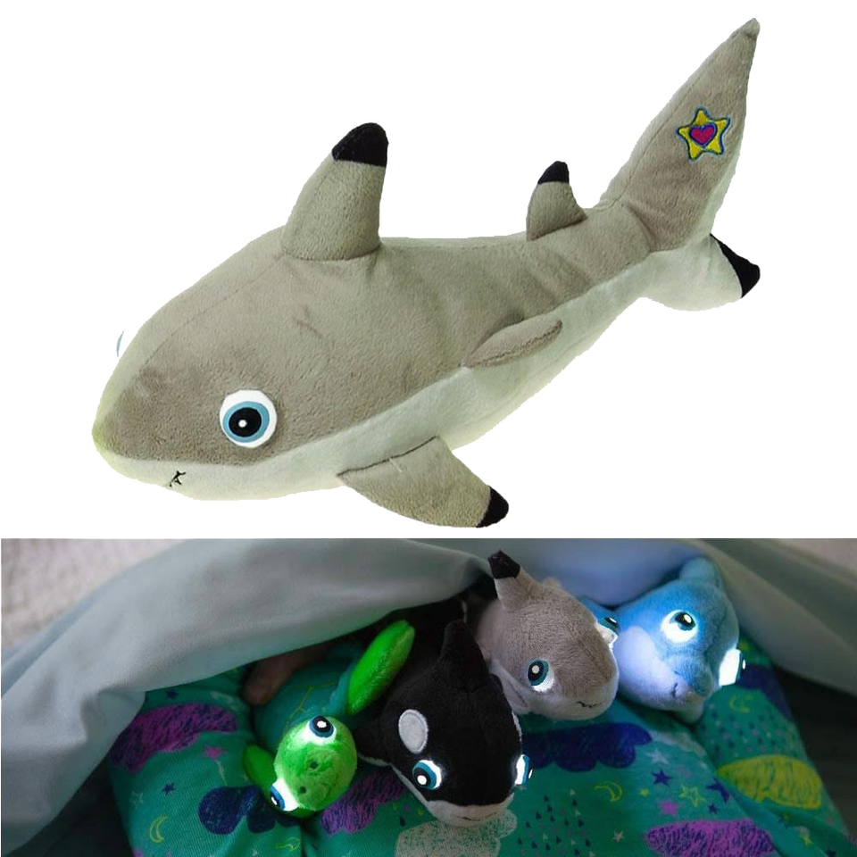 NightBuddies Baby Sea Life Mirabella Baby Shark Light-Up Plush Animal Toy