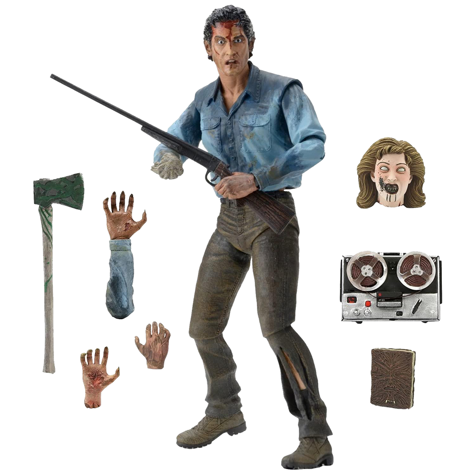 "Evil Dead 2 Ultimate Ash Action Figure 7"" Collectible By Dawn Horror"