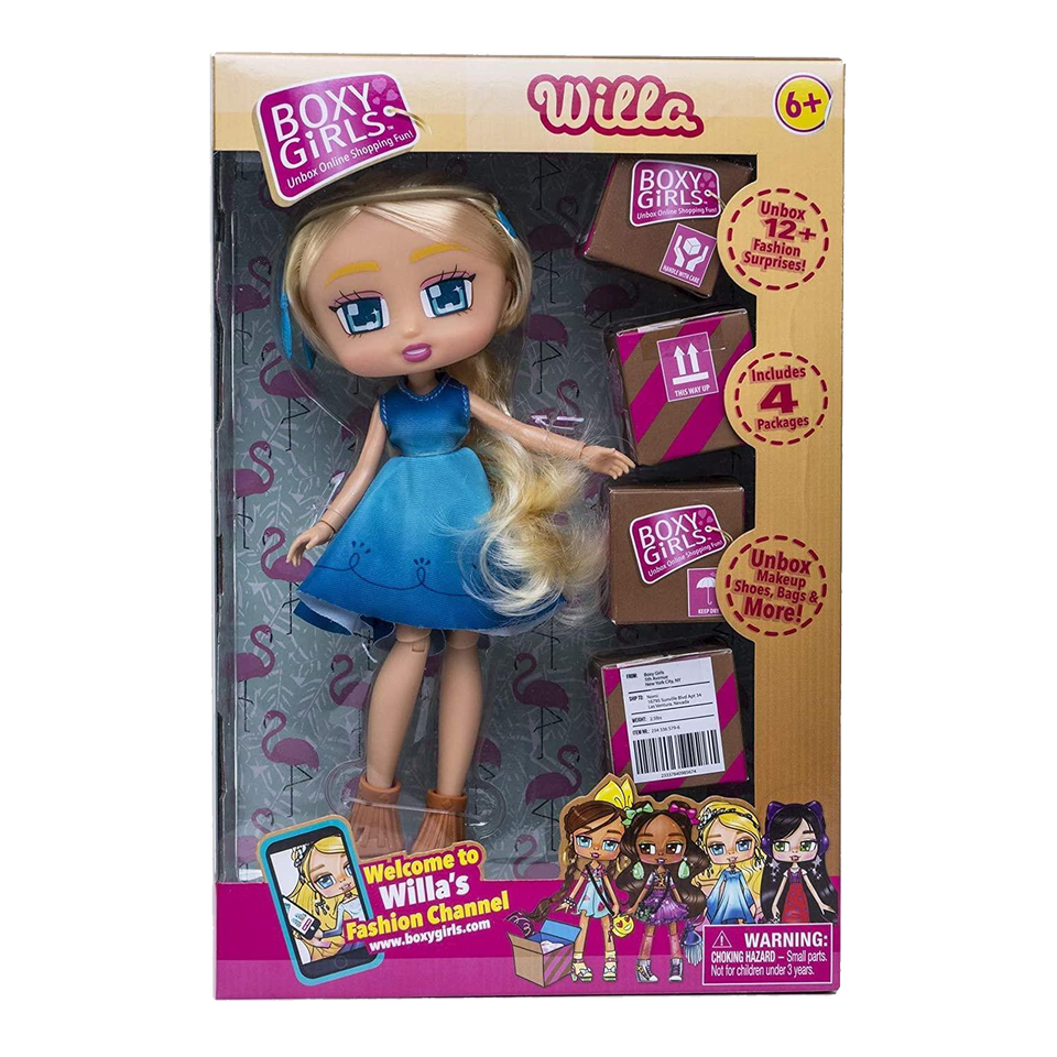 Boxy Girls Willa Doll 4 Mystery Surprise Packages Accessories