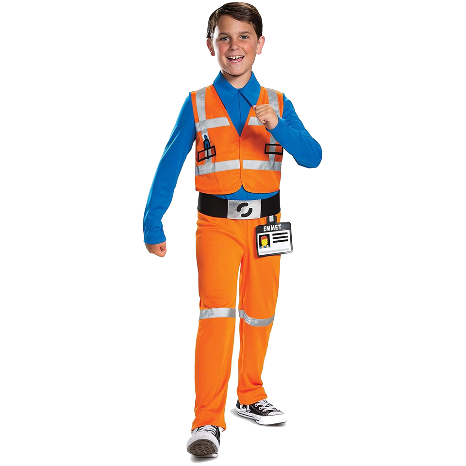 Emmet LEGO Movie 2 Classic Boys Jumpsuit Licensed Costume - X-Small (3T-4T)