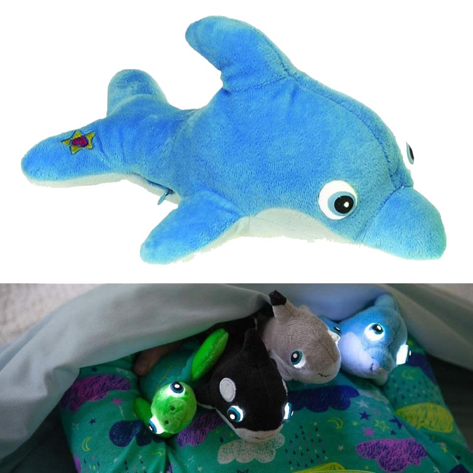 NightBuddies Baby Sea Life Orly Baby Dolphin Light-Up Plush Animal Toy