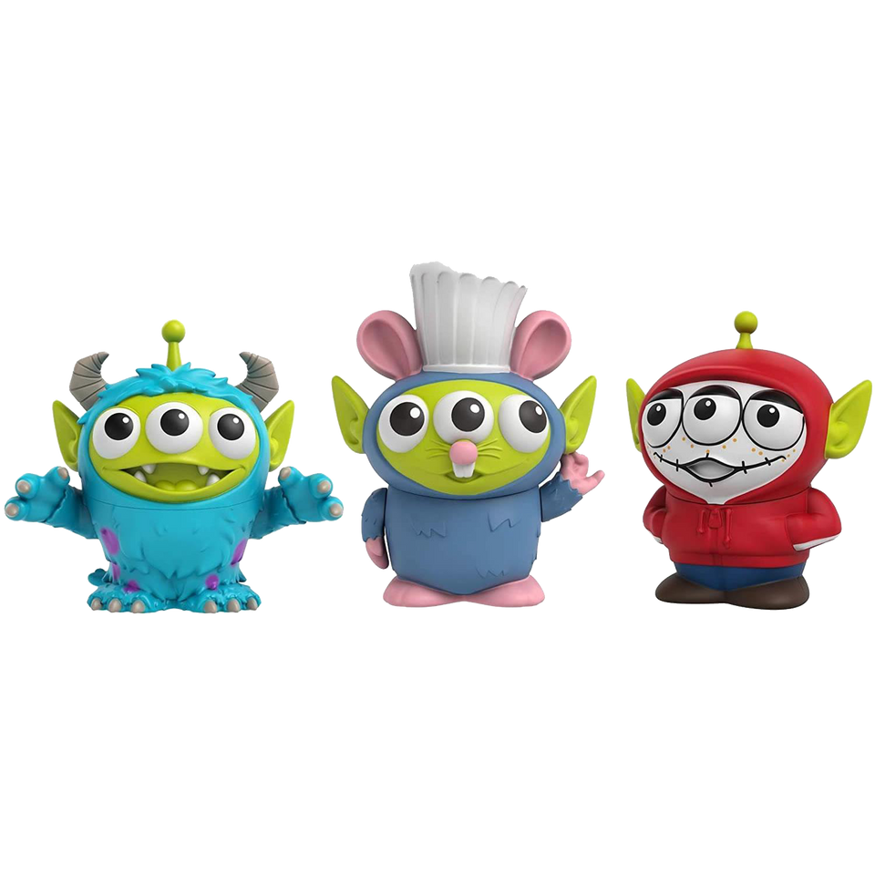 Disney Toy Story Pixar Alien Remix 3-Pack Miguel Sulley Remy Figures