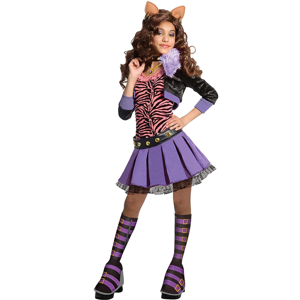 Monster High Clawdeen Wolf Deluxe Girls Costume - Large (12/14)