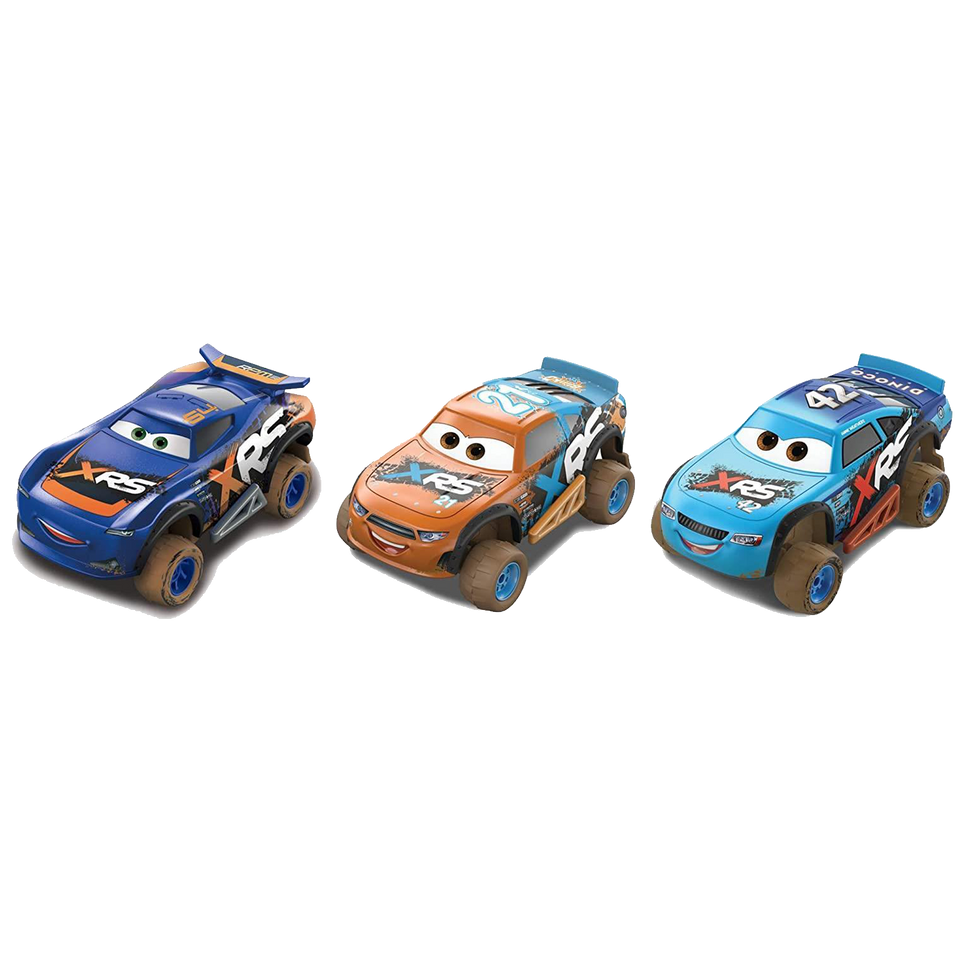 Disney Pixar Cars XRS Mud Racing 3-Pack Die-Cast Collectable