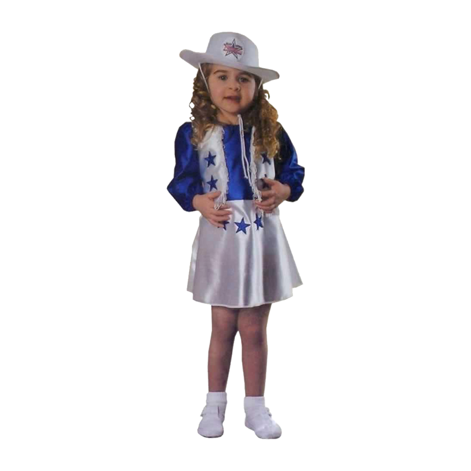 Rubie's Dallas Cowboys Cheerleader Toddler size 2-4T Dress Costume