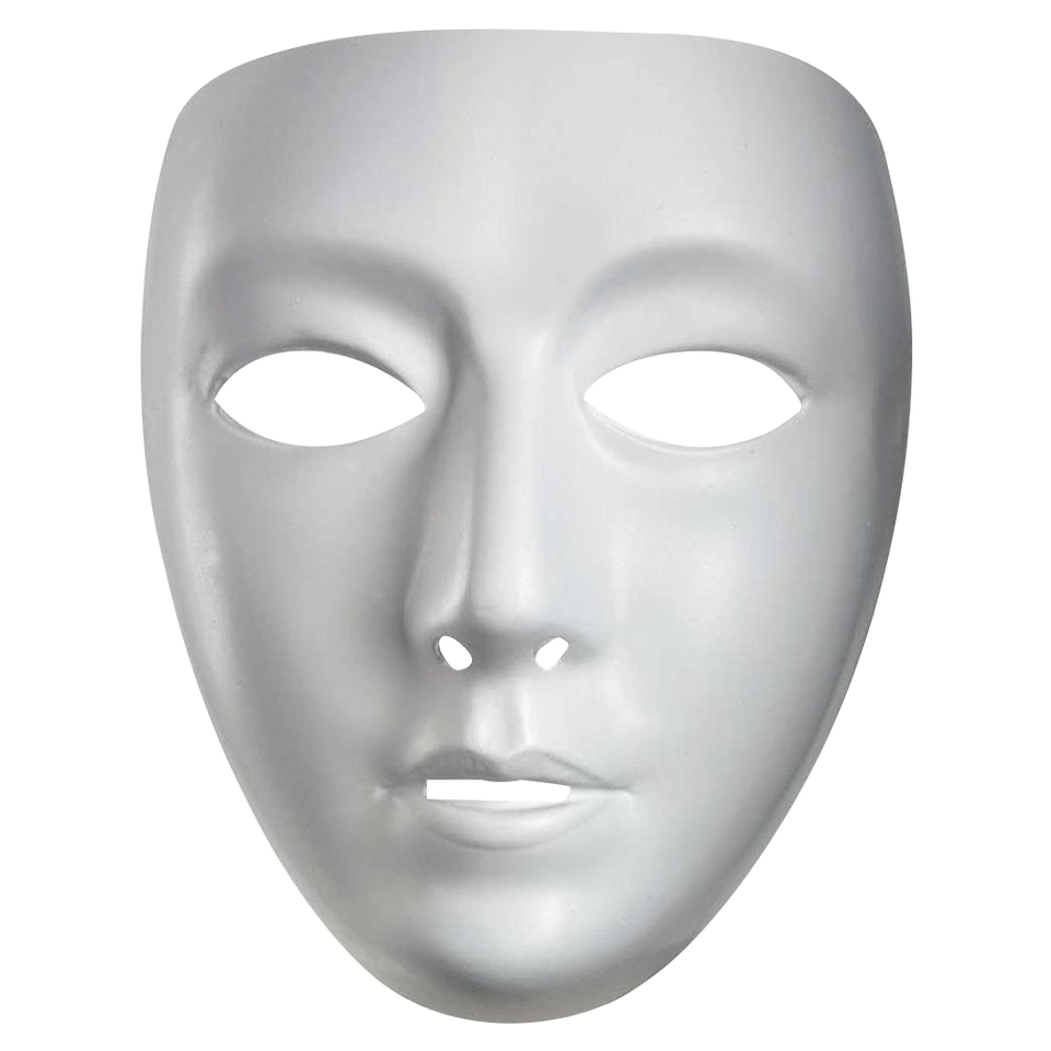 Blank Female White Face Mask Drama Dance Hip-Hop Persona