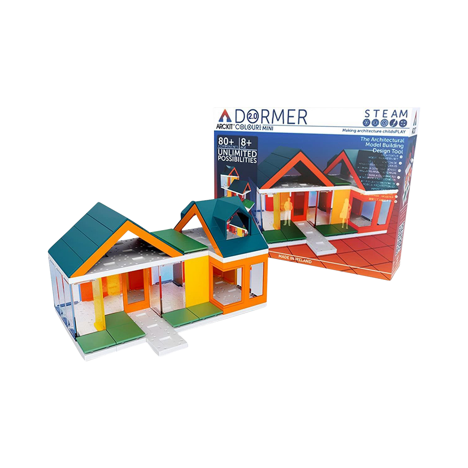Mini Dormer Colours 2.0 Kids Building Kit Build Architecture Structure Arckit