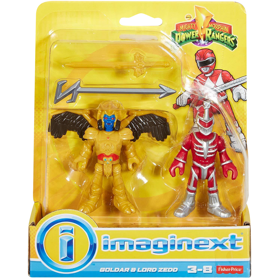 Imaginext: Godar & Lord Zedd Figures Mighty Morphin Power Rangers Fisher-Price DFX63