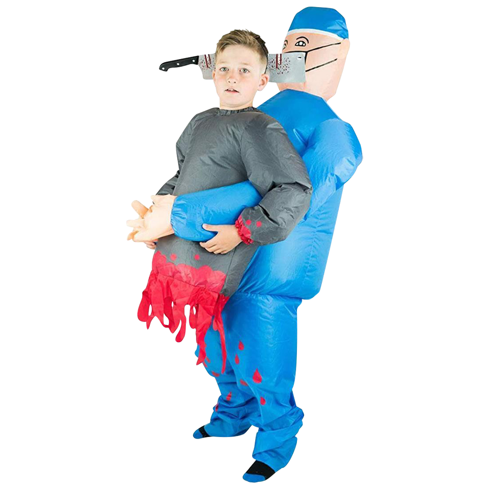 Inflatable Doctor Horror Blood Kids Costume size O/S Bodysocks