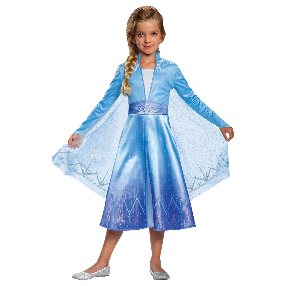 Disguise Disney Frozen 2 Elsa Deluxe Girls Size Extra Small  3T/4T Licensed Costume