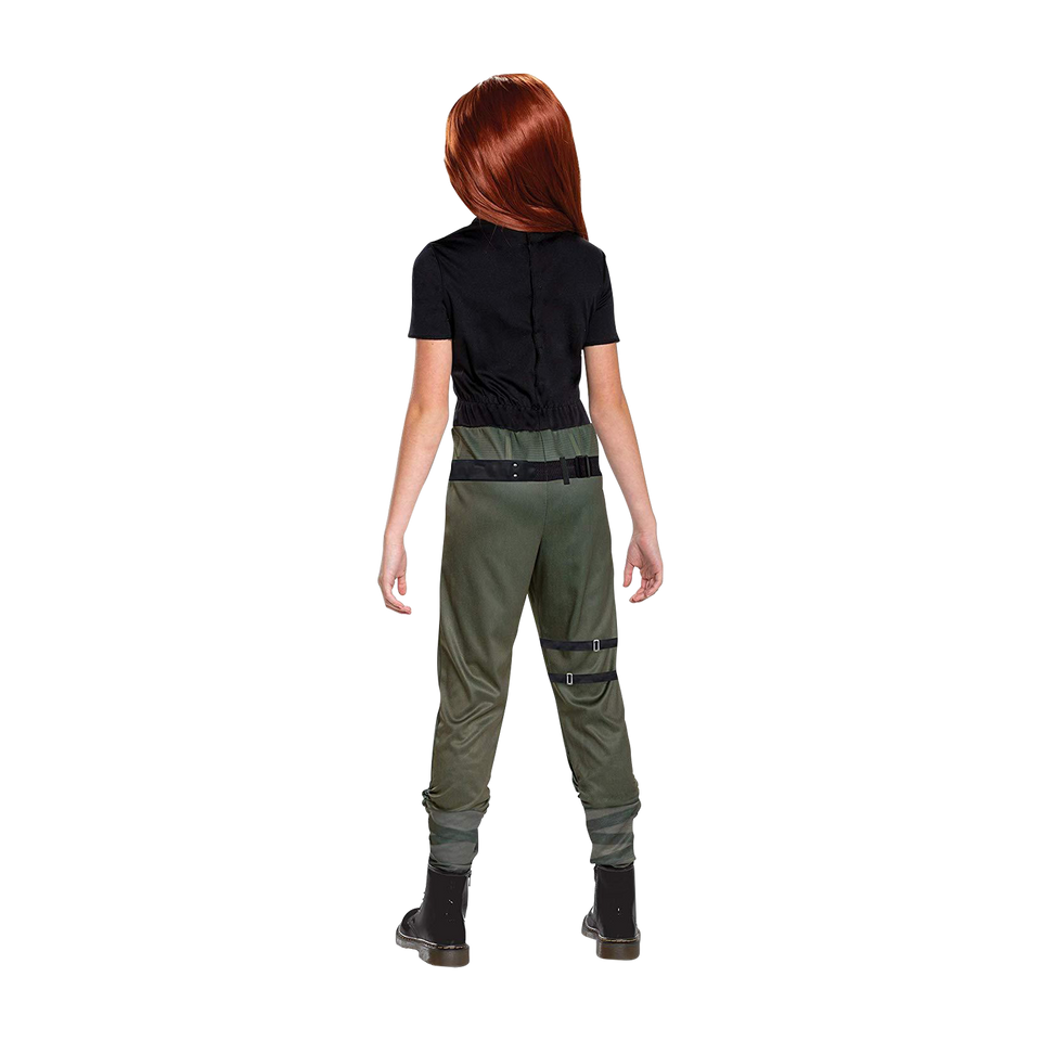Disney Kim Possible Agent Classic size L 10/12 Girls Licensed Costume Disguise
