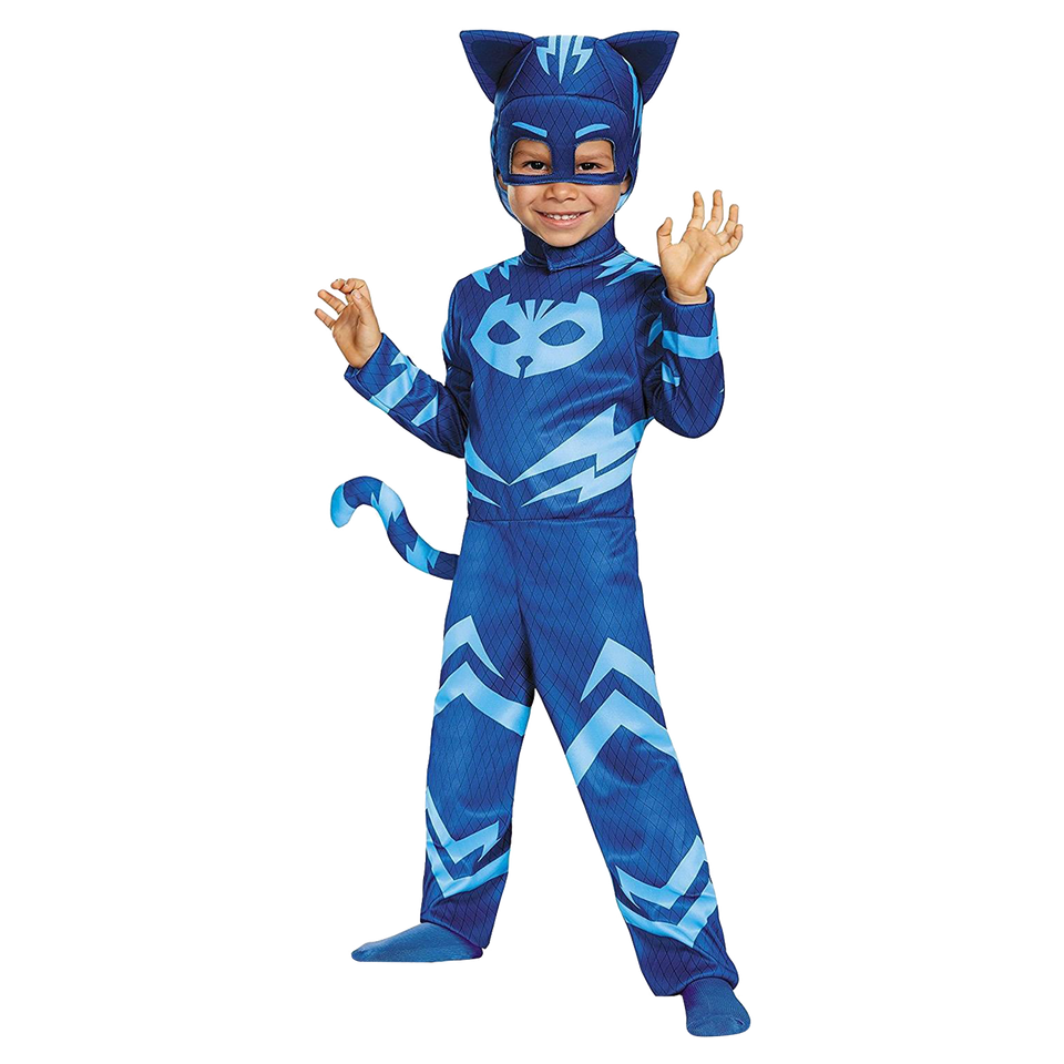 PJ Masks Catboy Toddler Costume Tail Headpiece Outift - Small (2T)
