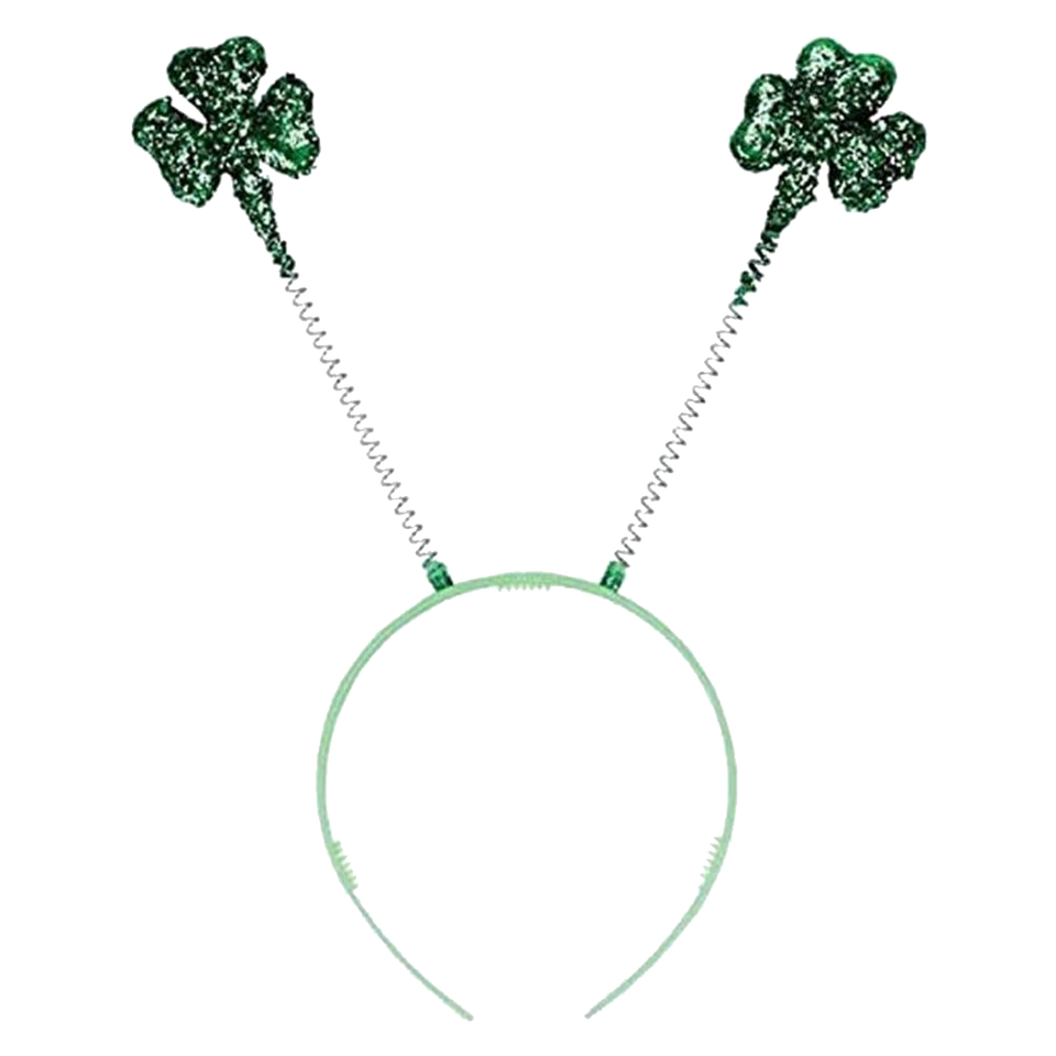 St. Patrick's Day Glitter Shamrock Head Bopper Costume Party Headband Amscan 317896