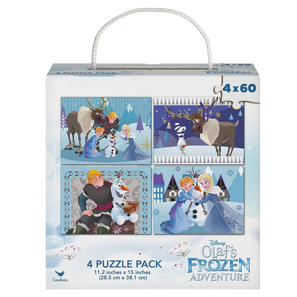 Disney Frozen Olaf's Adventure 4 Pack Puzzle 60 Pieces each