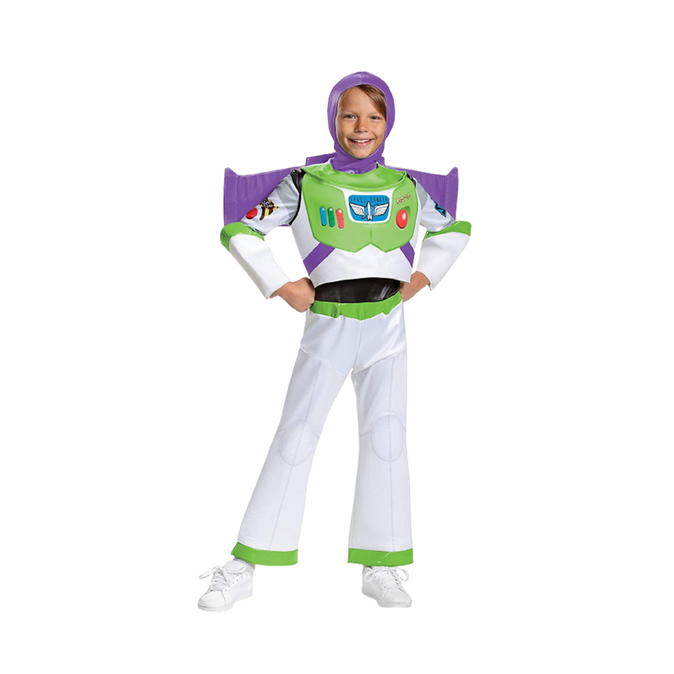 Disney Pixar Buzz Lightyear Toy Story 4 Deluxe Boys Costume - Medium (7/8)