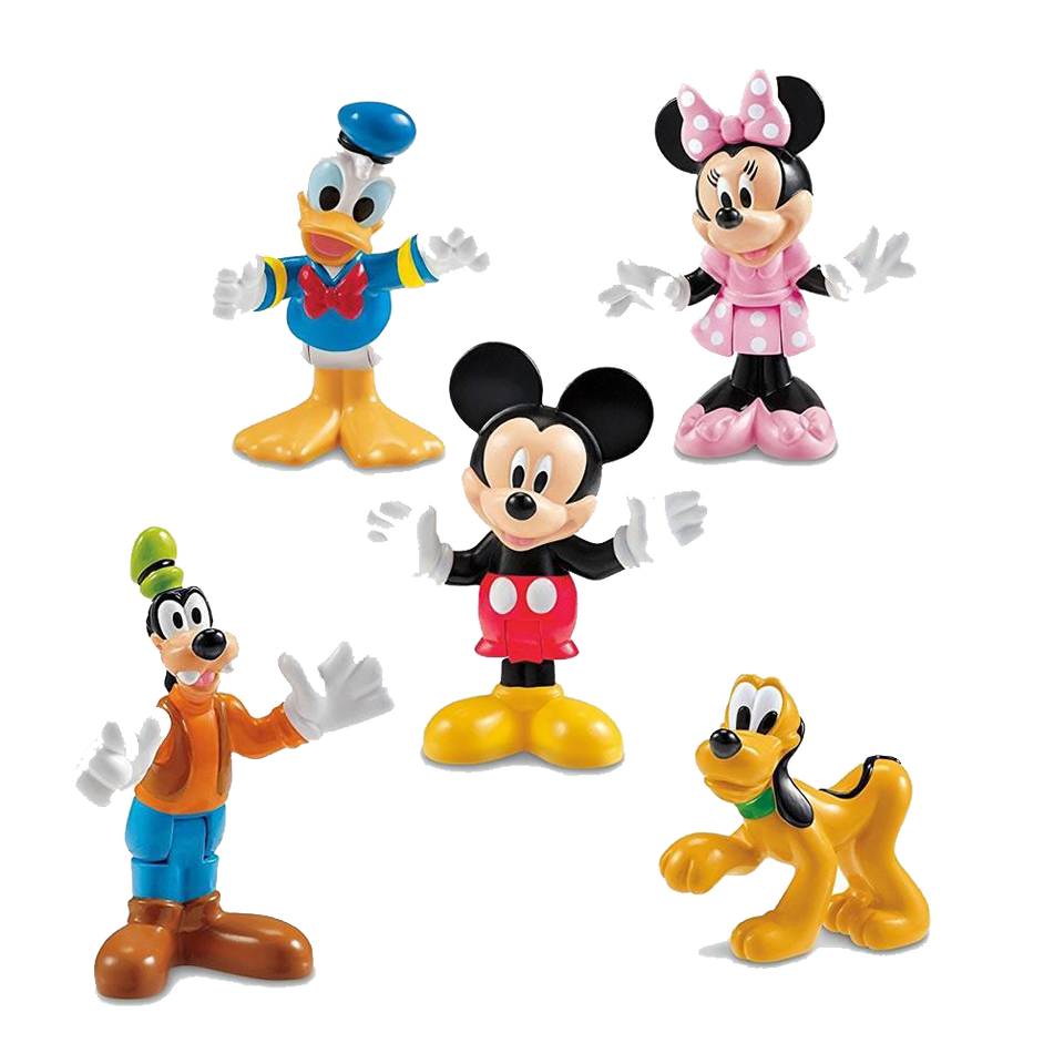 Disney Clubhouse Pals 5PK Mickey Donald Minnie Goofy Pluto Figures