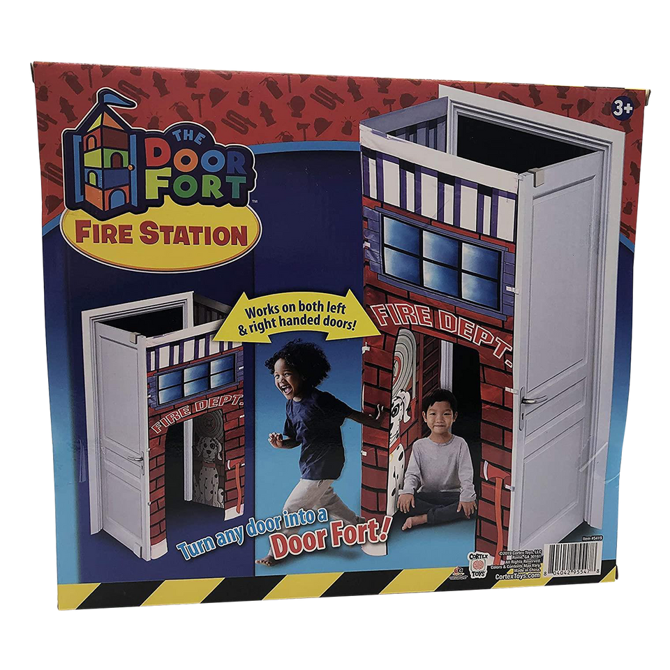 Firefighter Fire Station Doorway Fort Attach to Door Play Tent