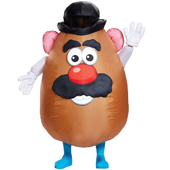 Mr. Potato Head Inflatable Costume Adult Licensed - O/S