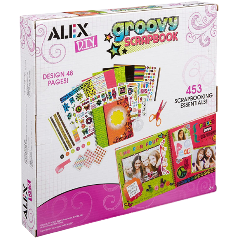 Craft Groovy Scrapbook Kids Arts & Crafts DIY Activity Decorative Creative