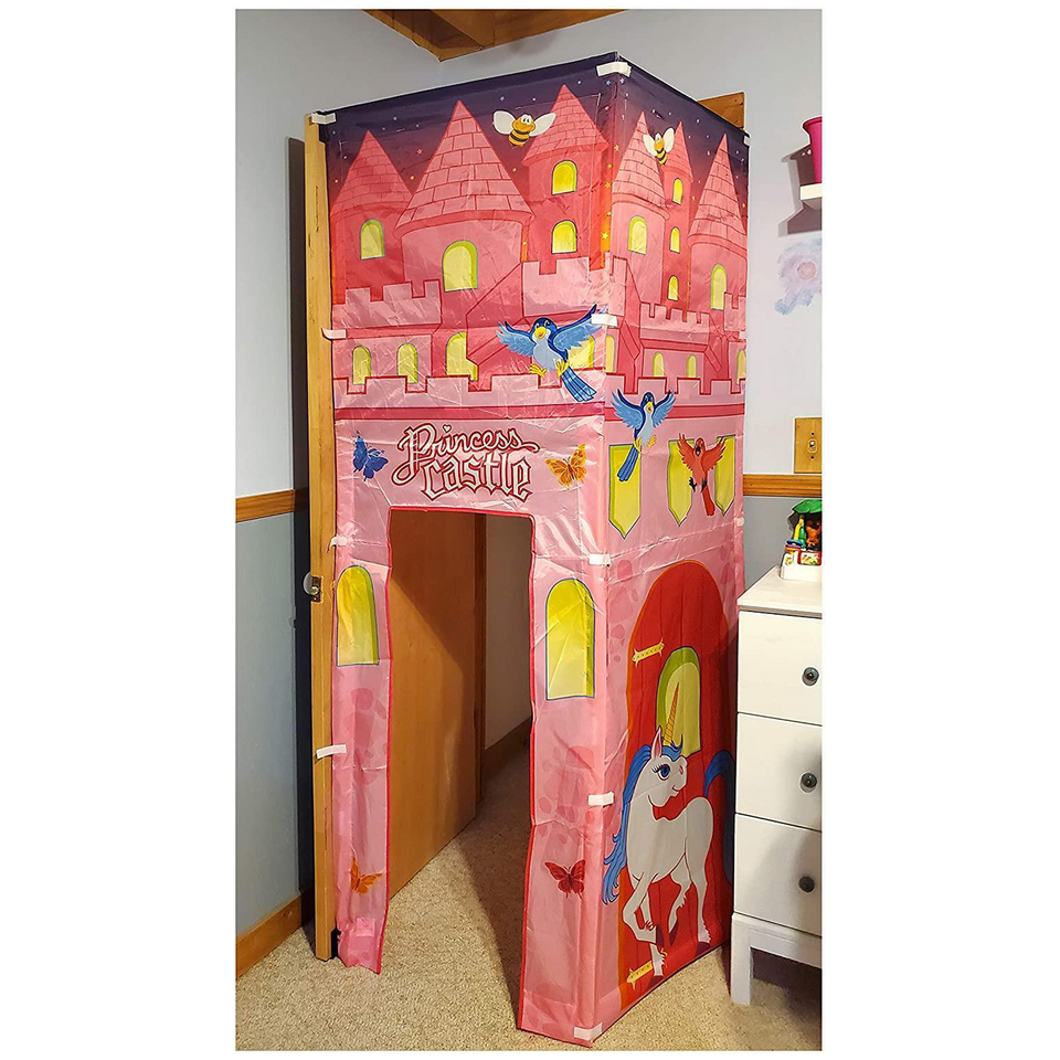 Princess Castle Doorway Fort Attach to Door Play Tent