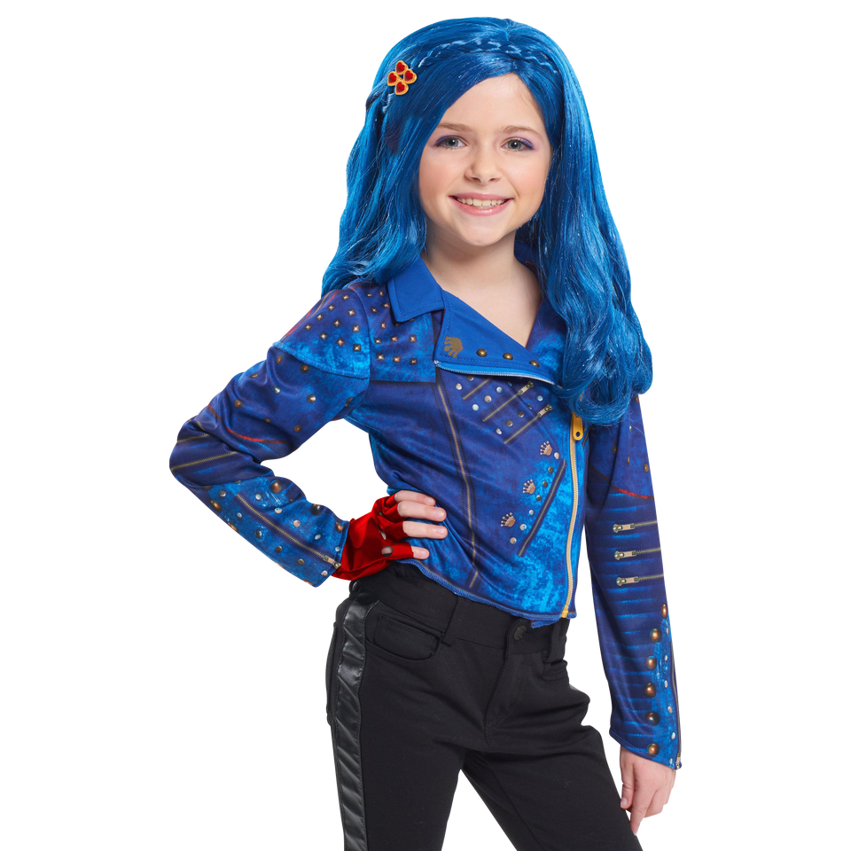 Disney Descendants 2 Evie Character Girls Wig Evilicious Blue Just Play