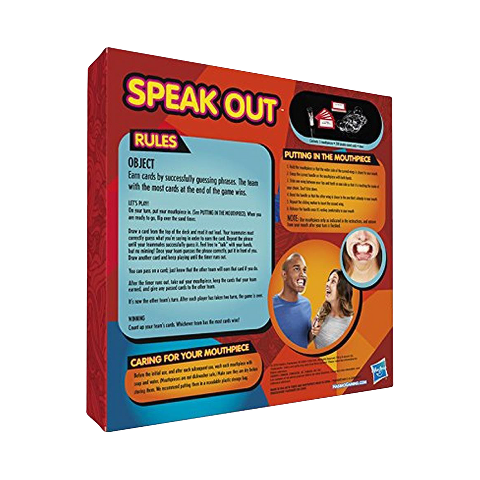 Hasbro Speak Out Board Game Family Ridiculous Mouthpiece Challenge Fun