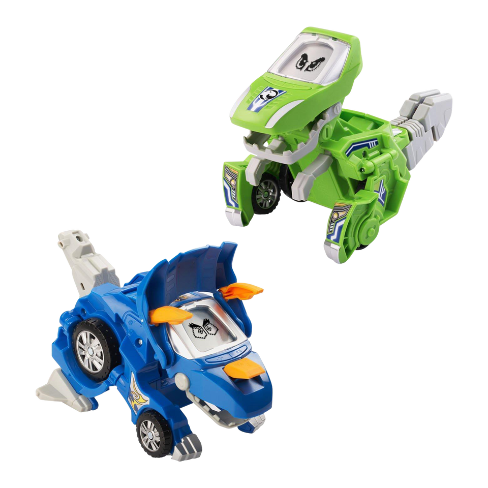 Vtech Switch & Go Dinos Blue Triceratops Green T-Rex (2 Pack)