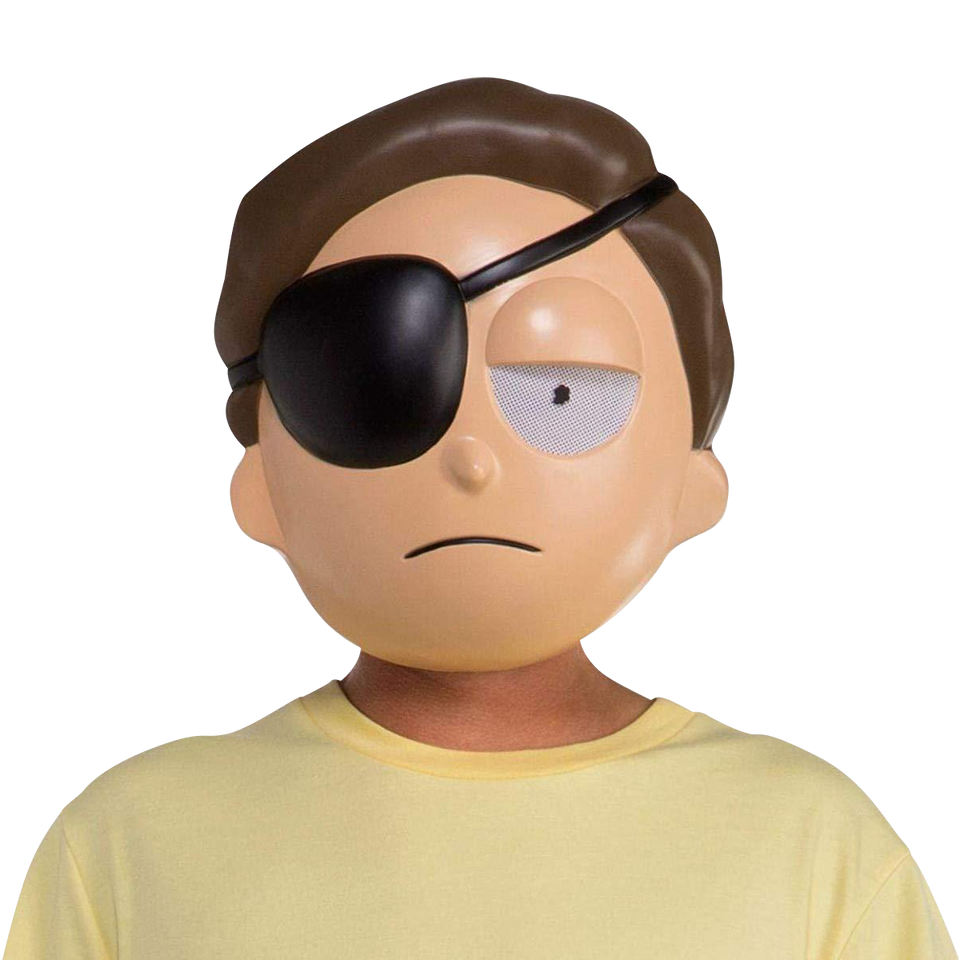 Rick and Morty: Morty w/Eye Patch Mask Licensed Costume Accessory Adult Swim Cartoon Palamon