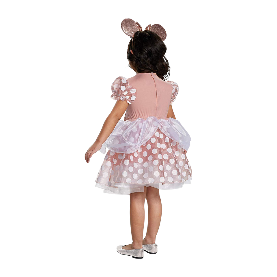 Disney Rose Gold Minnie Mouse Classic Girls Costume - (3T-4T)