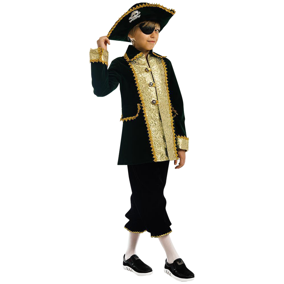 Captain of Pirates Boys Carnival Costume Dress-Up Play Kids - Small