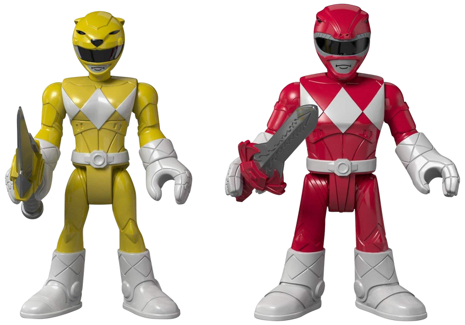 Fisher-Price Imaginext Mighty Morphin Power Rangers Red Ranger & Yellow Ranger