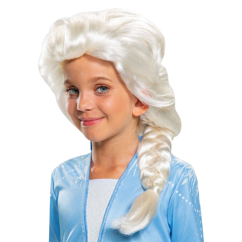 Disguise Disney Frozen 2 Elsa Child Blonde Wig Licensed Costume Accessory
