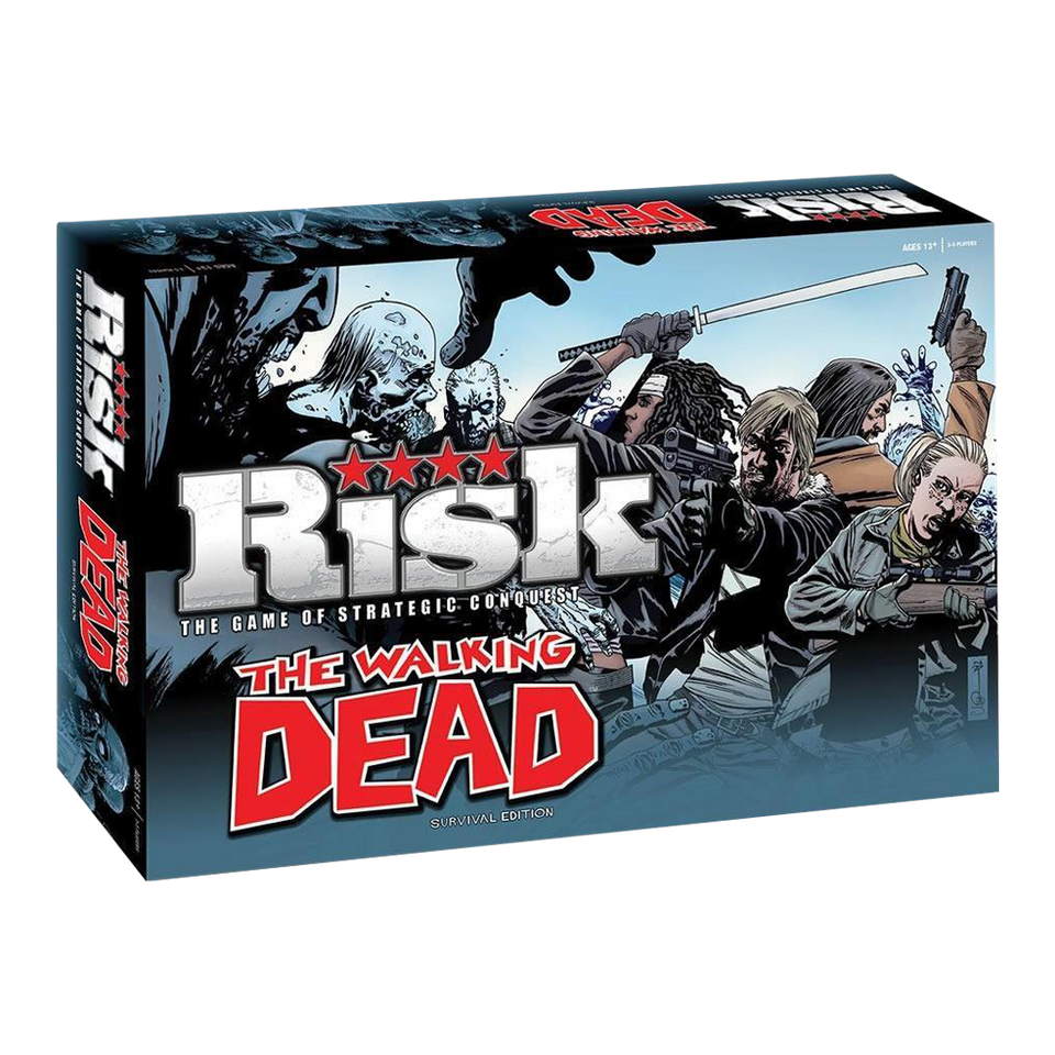 The Walking Dead Risk: Survival Edition Strategic Conquest Board Game USAopoly APR132230