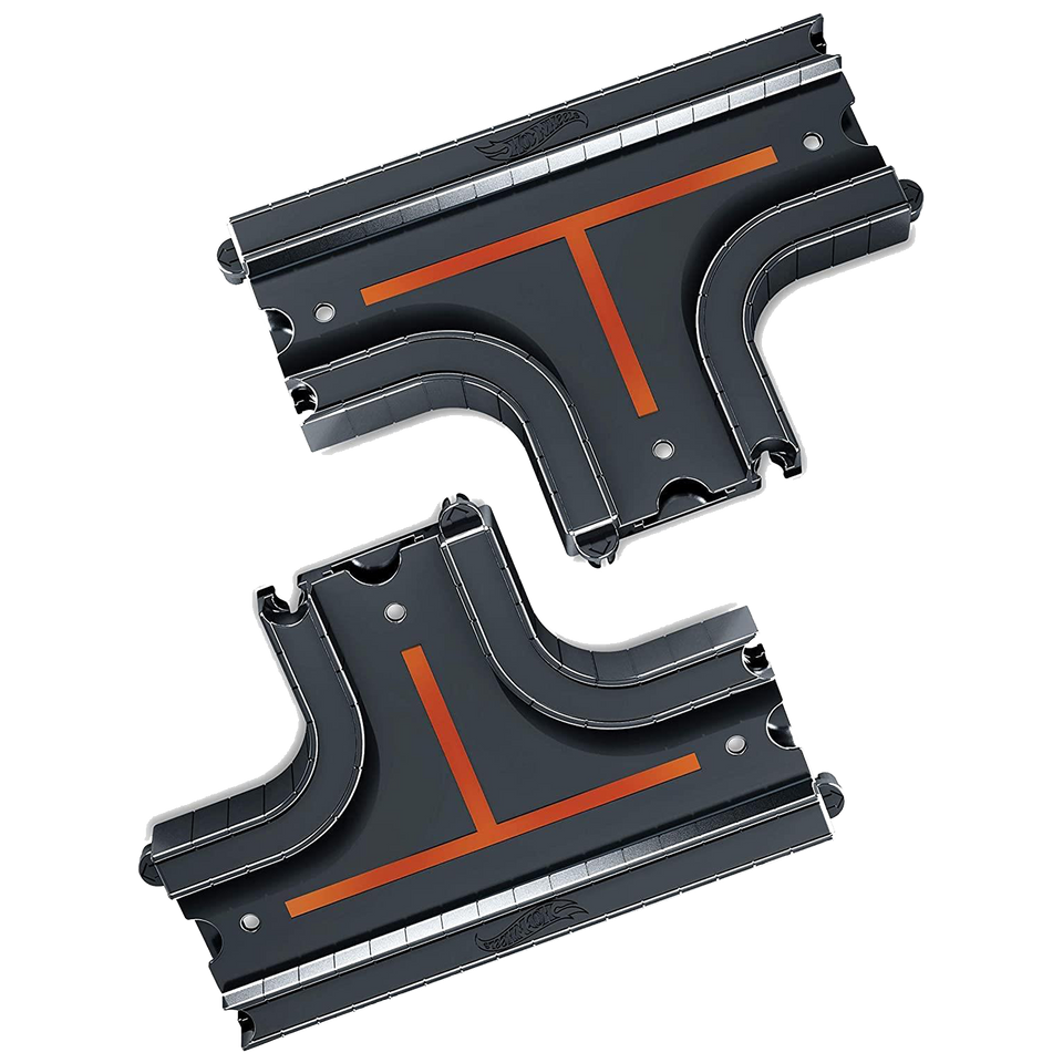 Hot Wheels City Straight Intersection Tracks Connect Add-on Road Pack