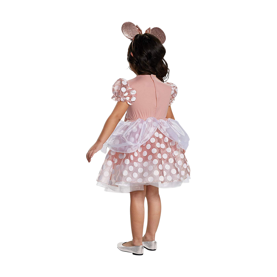 Disney Rose Gold Minnie Classic Toddler size 2T Girls Costume Disguise