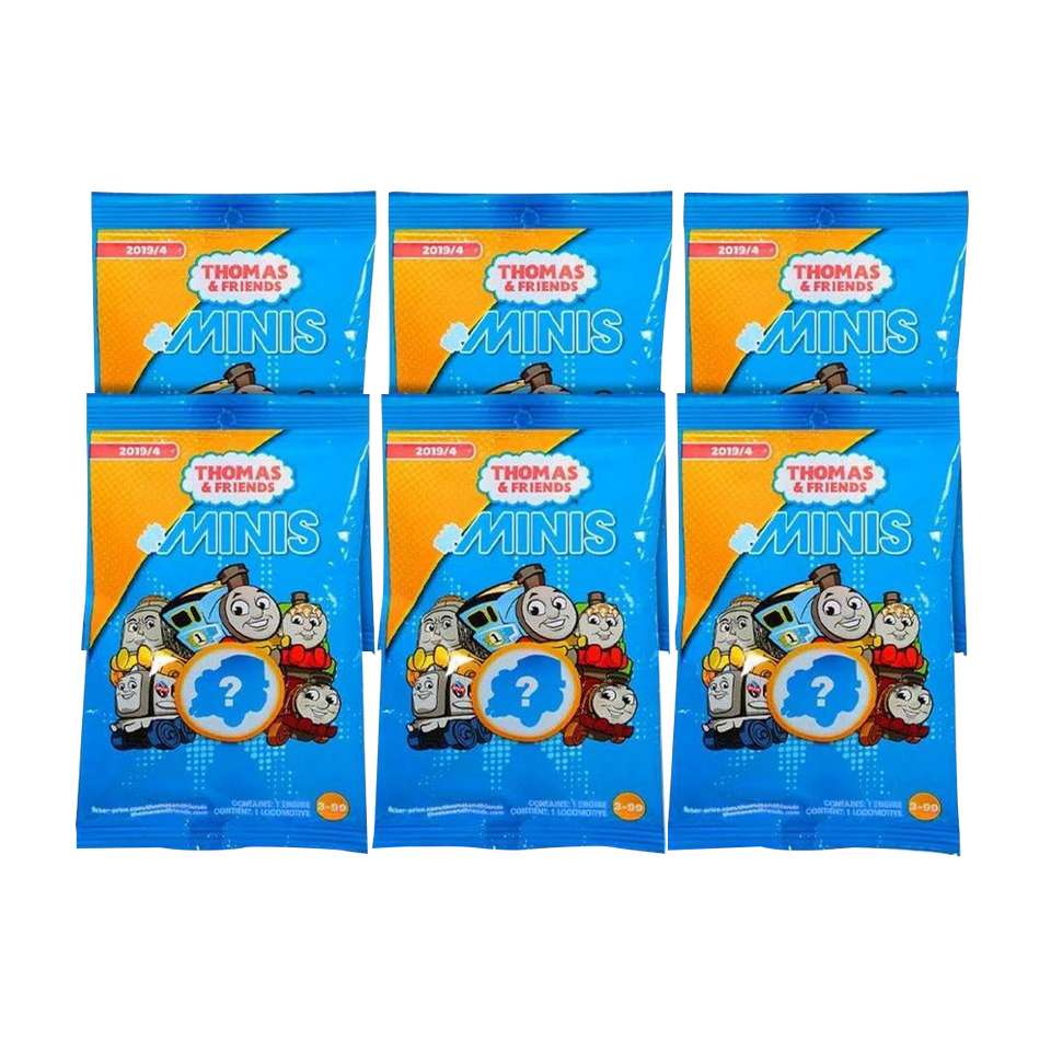Thomas & Friends Minis Engines 6-Pack Blind Bags Gift Set Party Bundle