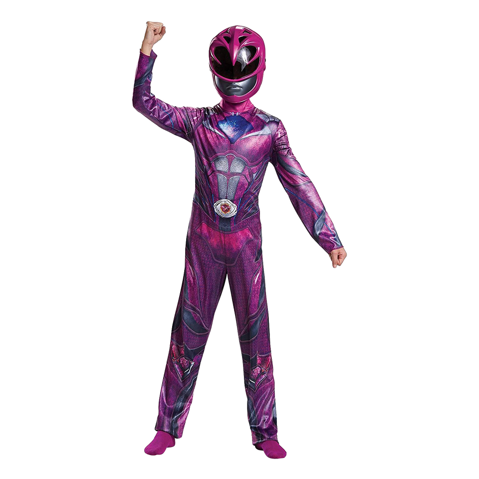 Power Ranger Movie Pink Girls size L 10/12 SABAN Licensed Costume Disguise