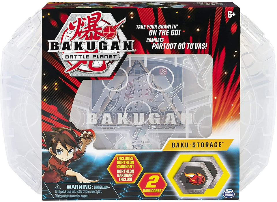 Bakugan Battle Planet Baku Storage Case Clear White Container BakuCores Spin Master