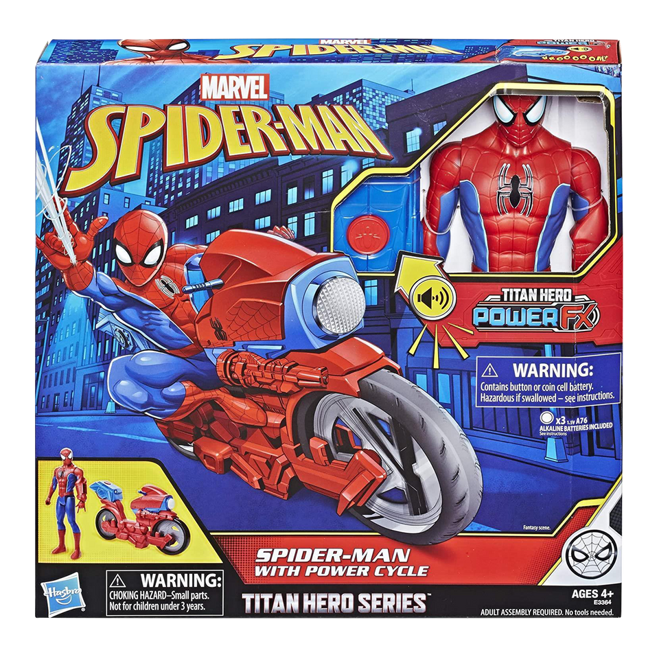 Spider-Man Titan Hero Series Power Fx Cycle Figure Sound & Phrase Toy