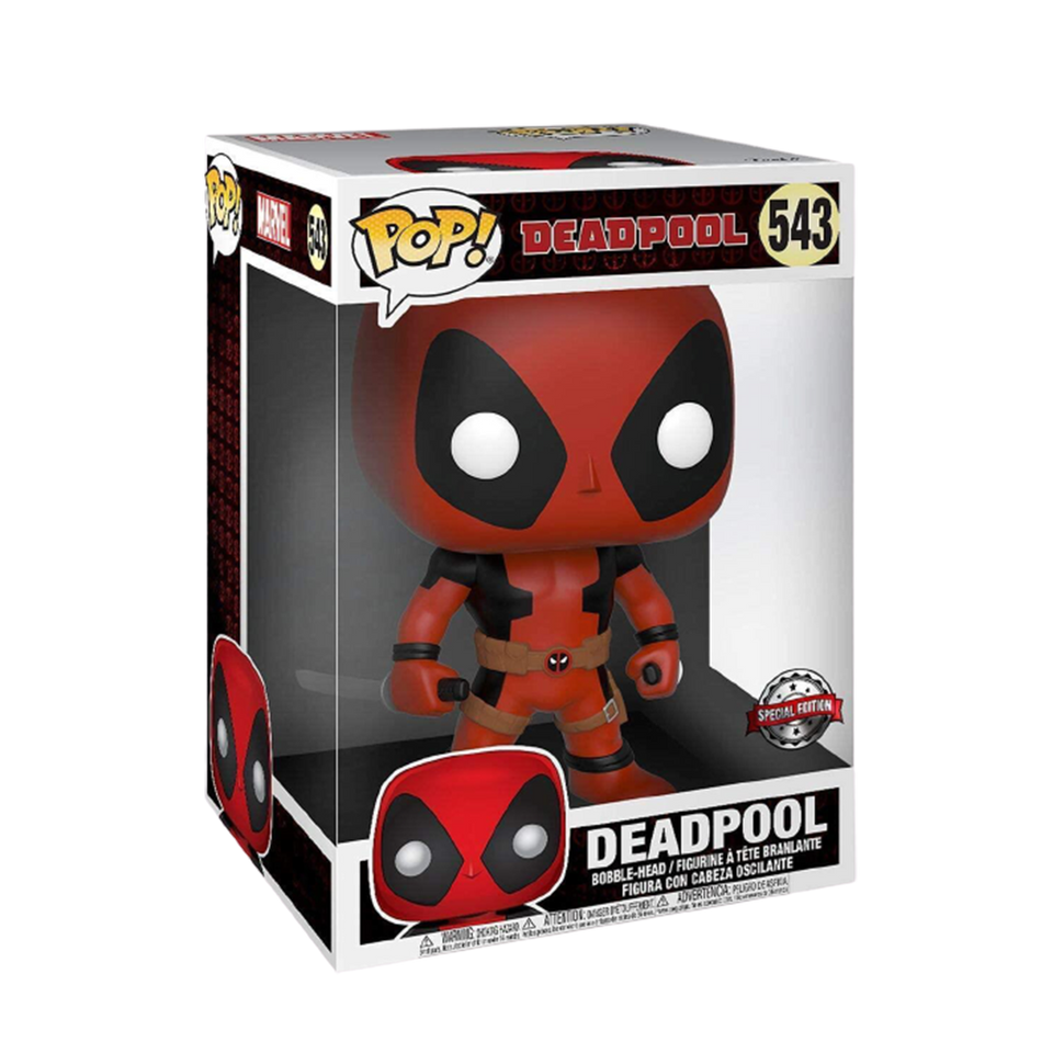 "Marvel Deadpool Super-Size 10"" Exclusive Bobble Head"