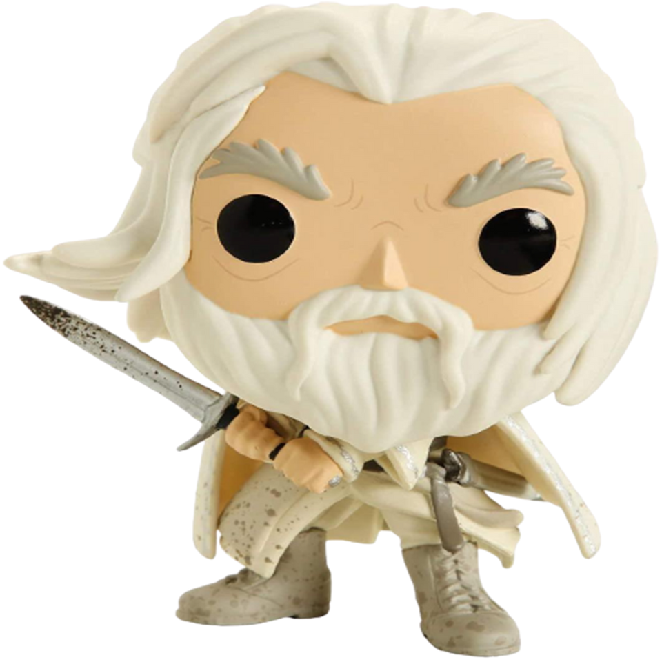 Ganalf the White Figure Lord of Rings Exclusive LOTR