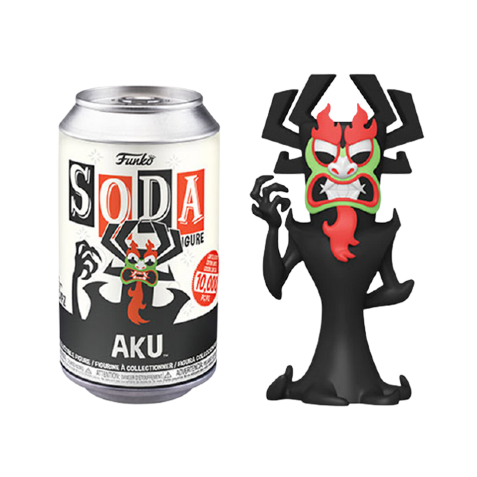 Soda Samurai Jack Aku Adult Swim Limited Edition Figure Collectible Toy